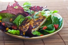 Grilled Tofu Salad with Miso Dressing - I mean come on.