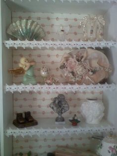 how to stage a shabby chic bookshelf - Google Search