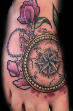 Awesome Compass Tattoo Design