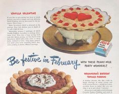 Retro JellO Pudding Advertisement by TheVintageResource on Etsy, $7.50