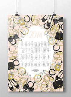 2014 Fashion Wall Calendar Poster