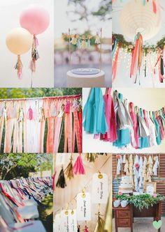 Tassel Wedding Styling Mood Board from The Wedding Community