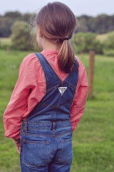 OshKosh overalls in big-kid sizes are my favorite thing ever. #OshKoshFirstDay