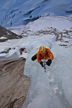 ice climbing rocks