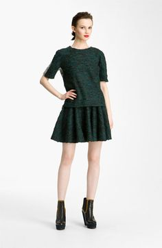 KENZO Mélange Knit Top and Skirt