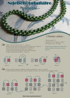 Tubular Herringbone with cubes and size 8 seed beads.  Poster says it took 2 hours.  #Seed #Bead #Tutorial