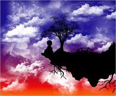 Art, graphic, design, digital, artwork, kids, waiting, vector, sky, clouds, bridge