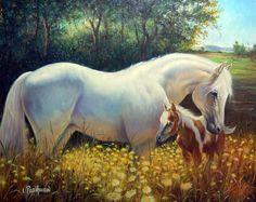 Hermosa pintura de caballos