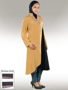 Party Abaya- http://www.mybatua.com/womens/short-black-and-beige-party