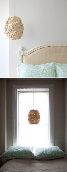 this lamp is as pretty as a bouquet of flowers...hanging by your bed every night!