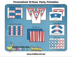 Dr Seuss Birthday Party Printables
