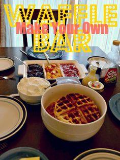 Great idea for Bunco food - Waffle Bar!!