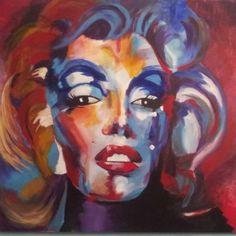 """Marilyn Monroe"" in acrylic"