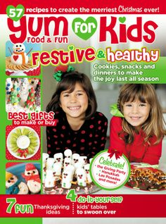 Holiday Kids' Tables for Yum Food and Fun for Kids Magazine! by Bird's Party