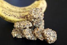 sugar free banana oat cookies on foodlets.com