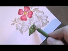 Watch as I show you how to blend with colored pencils on these flowers.  Kinda similar to Copics, but a lot less expensive!  For more photos and detail, see my blog post for this card:  http://darlenedesign.com/wordpress/?p=2417
