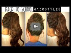 hair tutorials, school hairstyles, braid, long hair, messy buns, casual hairstyles, messi bun, updo, back to school