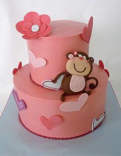 Adorable monkey cake.