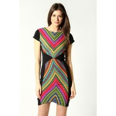 Aztec print dress at