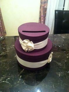 This super cute card box would be an easy DIY! #weddings #reception NEED TO MAKE ONE OF THESE!