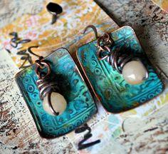 Melinda Orr's Athena Patina Earrings