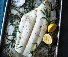 Tarragon-Roasted Halibut with Hazelnut Brown Butter