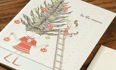Holiday Tree | Red Cap Cards | Illustrated greeting card by Carrie Gifford