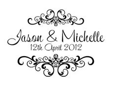 Personalized wedding rubber stamps W12 by mycustomstamps on Etsy, $7.50