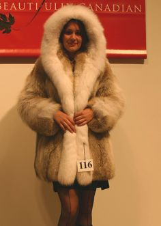 Coyote & White Fox Fur Parka