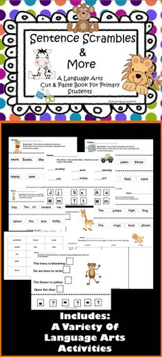 Language Arts Activities For Primary Grades #TpT #Language Arts