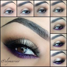 Purple and Neutral Eyeshadow. #elymarino