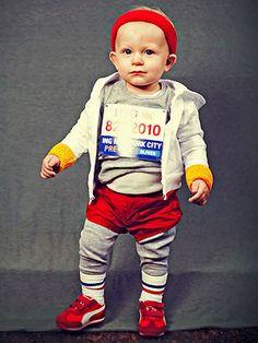 marathon runner, halloween costumes, minimarathon, costume ideas, baby costumes