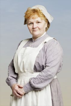 Mrs. Patmore, the cook and head of kitchen staff.  Downton Abbey, PBS, circa 1912