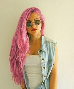 pink hair..