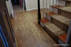 You'd be shocked to see what this old, outdated hardwood floor turned into!  Check it out: