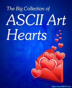 valentines ascii art by joan stark