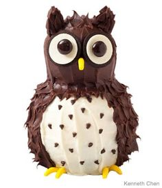 Owl Birthday Cake...love!!!