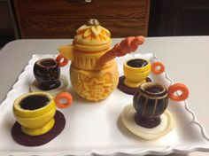 Coffee Set Carving by Najwa Dorgalli