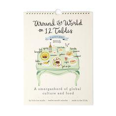 CUISINE AROUND THE WORLD CALENDAR   foodie calendar, cooking art   UncommonGoods