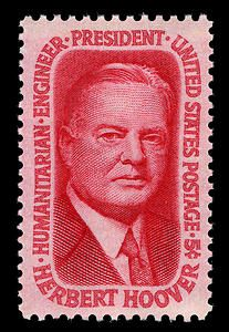 31st President of the United States Herbert Hoover was a stamp collector and, with his successor FDR, a member of the American Philatelic Society.