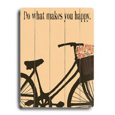 Planked wooden sign with a sponge paint-style bike.   Product: Wall art  Construction Material: Birch wood