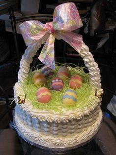 Everything is edible except for the ribbon on the handle. Even the handle is edible. Happy Easter everyone..