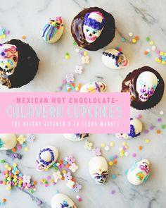 Mexican Hot Chocolate Calavera Cupcakes