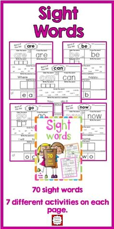 Sight words represent approximately 50% of all printed text. When students know their sight words, reading becomes much easier.