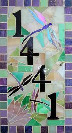 house numbers! houses, craft, mosaic hous, hous number, mosaics, wall decorations, stain glass, house numbers, mosaic designs