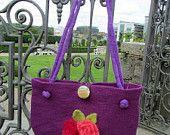 Handmade Silk Lined Felt Handbag