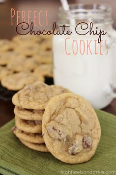"Perfect Chocolate Chip Cookies...blog says: ""I'm not lying one bit when I say that this is the perfect chocolate chip cookie recipe! This recipe has ruined me for all other chocolate chip cookies. I really hope you love these as much as we do!"""
