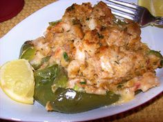 Seafood stuffed  bell peppers
