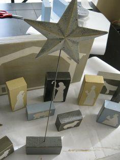 diy block nativity set | ginger snap crafts
