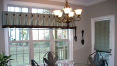 #Windowtreatments  Montreal valance and a flat #romanshade
